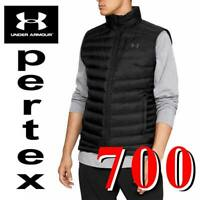 MENS UNDER ARMOUR UA ISO DOWN VEST 700 GOOSE STORM PERTEX GREEN BLACK L XL