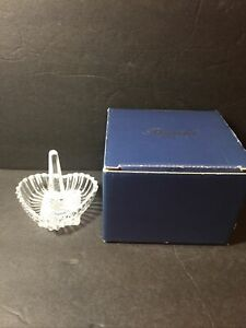"""New ROGASKA GALLIA AMORE HEART SHAPPED CRYSTAL 3-3/4"""" JEWELRY RING HOLDER"""
