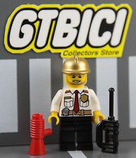 LEGO CITY MINIFIGURA   `` FIRE CHIEF ´´   Ref 60088   100X100 ORIGINAL LEGO