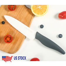 Blade Sharp Ceramic Knife Kitchen Black Silicone Handle With White Blade Home US