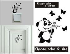 Sticker Vinilo - Oso Panda - Escoge color y tamaño - Pegatina  -Wall Decall