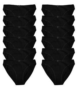 3 6 12 Ladies Briefs, 100% Cotton Bikini Full Comfort Fit Underwear Size, 8-24