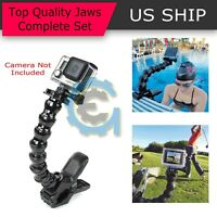 Jaws Flex Clamp Mount + Adjustable Neck for Gopro Hero 6 5 4 3 2 Camera