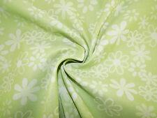 Stoff -Daisies- Meterware - Fb. grün/natur  || für Babytragetücher