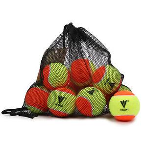 Vollint Kids Tennis Balls Mini Orange Stage 2 Beginner Training Balls - 1 Dozen