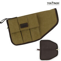 Tourbon Canvas Pistol Holster Gun Mag Bag Carry Handgun Rug Case Magazines Pouch