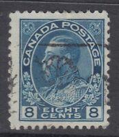 """Canada Scott #115  8 cent blue  """"Admiral""""   F **"""