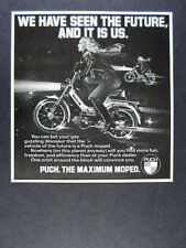 1978 Puch Sport Moped 'We have seen the future' vintage print Ad