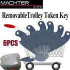 6PCS Universal Shopping Removable Trolley Token Key Coles Woolies+Bottle Opener