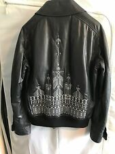 Berluti Embroidered Scott Campbell Design Leather Jacket US 38 New