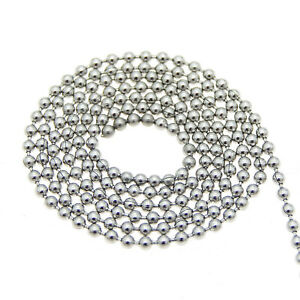 5M Dog Tag Ball Bead Stainless Steel Chain Necklace Bracelet Jewelry Making DIY