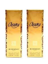 Set of 2- Organza by Givenchy Paris Eau De Parfum EDP Perfume Spray 1 oz., NEW!