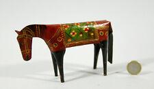 ANCIEN  CHEVAL  en tôle peinte, stylisé, Inde, horse, mondo-cheval