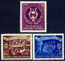 1951 Music Week,Choir,Accordion,Costumes,Dance,Harp,Orchestra,Romania,M.1288,MNH
