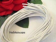 Weiße lederbänder zur Schmuckherstellung Drähte, 2 mm
