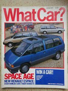 WHAT CAR? -  Magazine - October 1985 - Nostalgic Photos / Articles / Adverts.