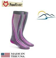 Fox River Womens INNSBRUCK Best WOOL Warm lightweight Over Calf Ski Sock #5593