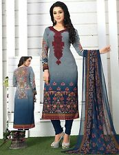 Elegant Crepe Designer Printed Unstitched Dress Material Suit D.No SFD10009
