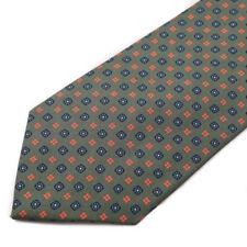 New E.MARINELLA NAPOLI Forest Green-Blue-Orange Floral Jacquard Silk Tie