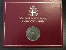 2 EURO MÜNZE COIN 2004 VATIKAN VATICAN 75 JAHRE VATIKANSTADT STEMPELGLANZ (ST)