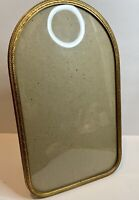 Antique HEIRLOOM Oval Glass Picture Photo Frame Chicago 1935 Katie L Gehl Plaque