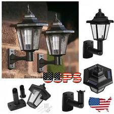 Solar Power LED Light Path Way Wall Landscape Yard Garden Fence Lamp Outdoor US