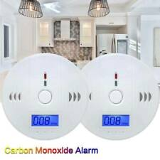 2PACK CO Alarm Carbon Monoxide Integrated Detector Home Fire Warn Sensor NEW