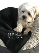 PERSONALISED DOG / CAT BLANKET CHOICE OF 9 COLOURS