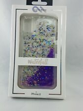 Case-Mate Waterfall Glitter Case for Apple iPhone X 10 - PURPLE - NEW!!