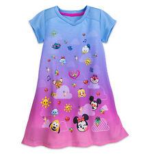 Disney Store Girl EMOJI NIGHTSHIRT Child XS Small 4 Pajamas Nightgown PJs Mickey