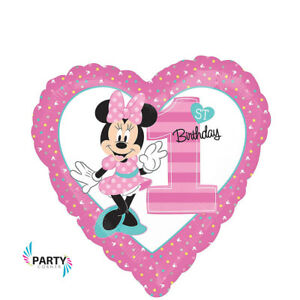 Minnie Mouse 1ST Birthday Party Supplies FOIL BALLOON