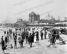 8x10 Print Bathers on the Beach Atlantic City New Jersey 1920's #4a230