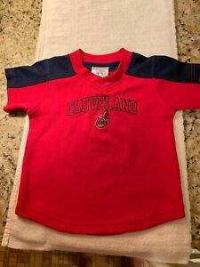 Cleveland Indians Official MLB Jersey Size18 Month Toddler FELLER OLD STYLE LOGO