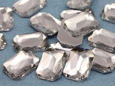 18x13mm Crystal Clear H102 Flat Back Octagon Acrylic Gemstones - 30 PCS