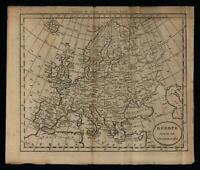 European Continent 1796 Doolittle scarce American engraved map