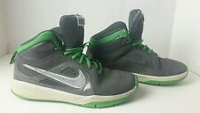 Boys Nike Youth Green/Gray Size 4.5Y Lace Up High Tops Athletic Shoes Flaw Pic#8