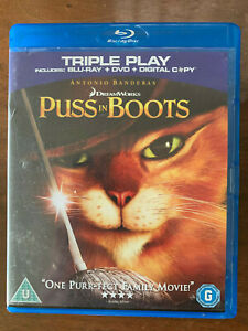 Puss in Boots Blu-ray + DVD 2011 DreamWorks Shrek Animated Movie