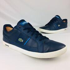 Lacoste Mens Low Top Graduate Europa Street Wear Tennis Leather Shoes sz 11 Blue