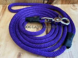 """SMALL DOG LEASH (TRIGGER SWIVEL SNAP) 1/4"""" X 6' PURPLE UP TO 25LBS (701)"""