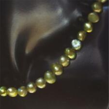 "Cultured Potato Pearl, 16 "" length, Olive Green shade, D Grade"