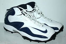 NIKE AIR ZOOM FOOTBALL SHOES MEN SIZE 18 WHITE AND NAVY