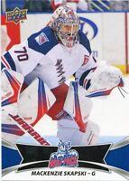 16/17 UPPER DECK AHL #23 MACKENZIE SKAPSKI HARTFORD WOLF PACK *30944