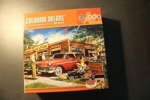 1000 Piece Puzzle Childhood Dreams - Bargain Used Cars. NIB. FREE SHIPPING.