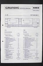 GRUNDIG CCF 8300 MK II Cassette Deck Service-Manual/Schaltplan/Diagram o94