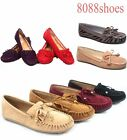 Women's Cute Slip On Fringe Boat Loafers Moccasins Flat Shoes Size 5.5 - 10 NEW