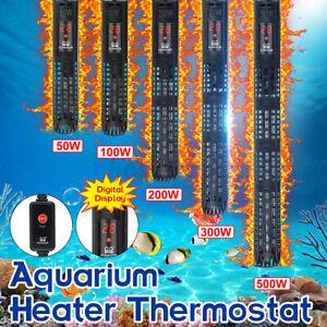 AU Aquarium Water Heater 50-500W Submersible Fish Tank Auto Thermostat Heating