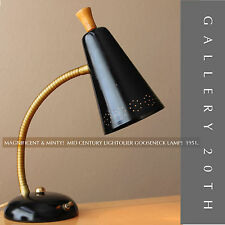 MINTY! MID CENTURY MODERN LIGHTOLIER GOOSENECK LAMP! 1951 Vtg Atomic Space Age