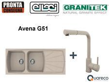 Lavello Incasso Elleci Living 2 Vasche e Miscelatore LGL50051C02 116x50 Avena