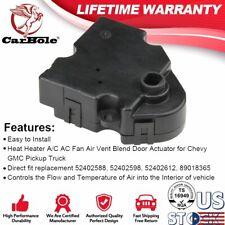 Black Heat Heater A/C Fan Air Vent Blend Door Actuator for Chevrolet 4.8L 5.3L