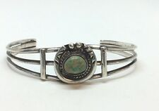 Sterling Silver Turquoise Cuff Bracelet 13.5grams